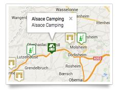 Carte des points d'intérêts autour du camping